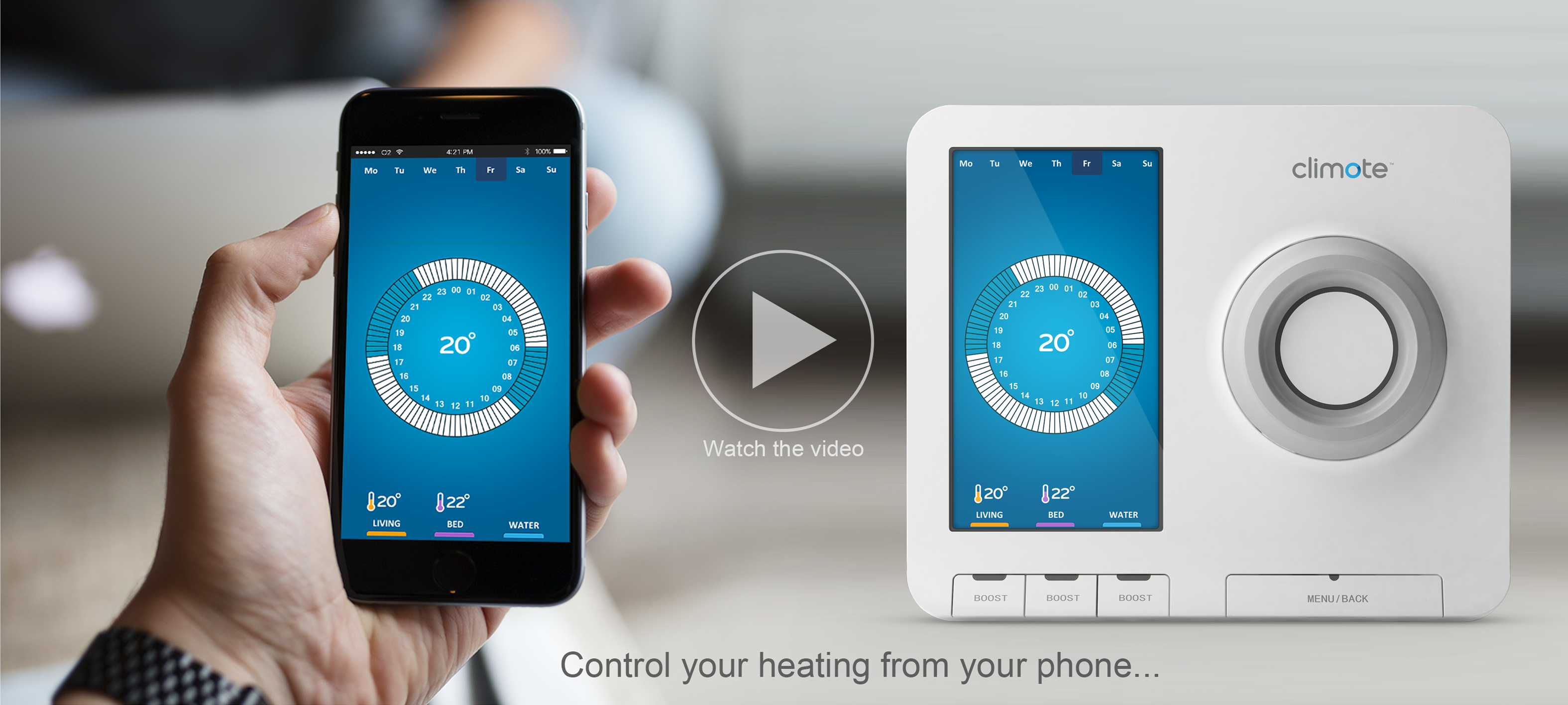 climote - total control of your home heating